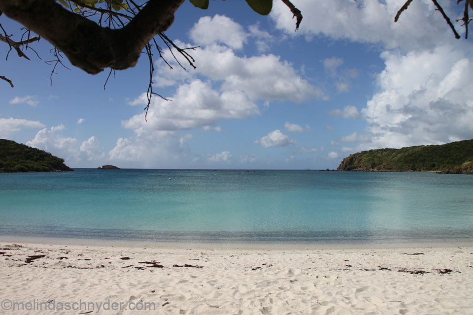 beach while traveling on St. John in the U.S. Virgin Islands