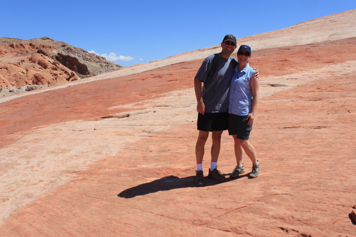 Here we are at the Fire Wave in Nevada's Valley of Fire State Park.