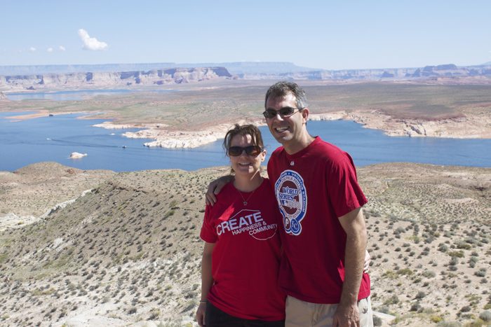 Lake Powell are, just above the Glen Canyon Dam