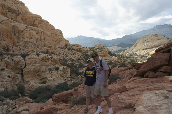 hiking at the Red Rock Canyon National Wildlife area just a few miles west of Las Vegas