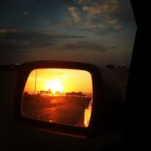 rearview_mirror_sunset