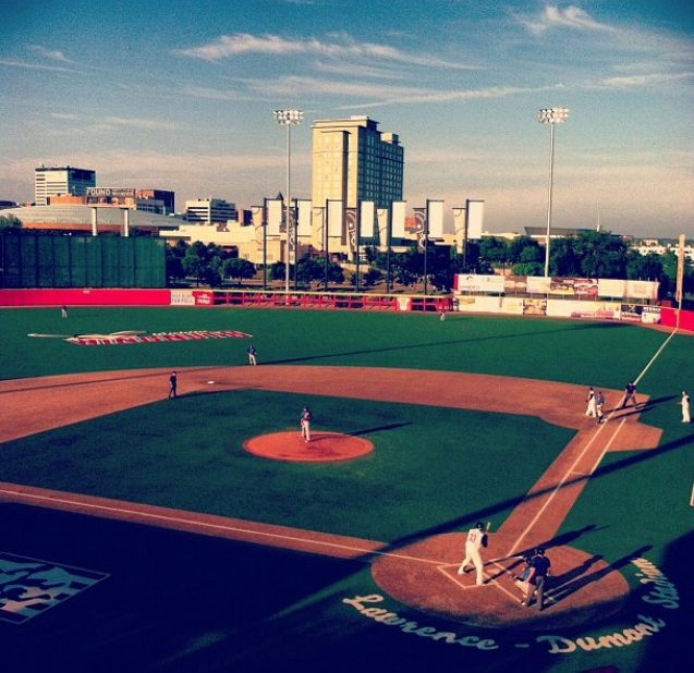 The Wichita Wingnuts playing at Lawrence Dumont Stadium in downtown Wichita. (MeLinda Schnyder Instagram photo)