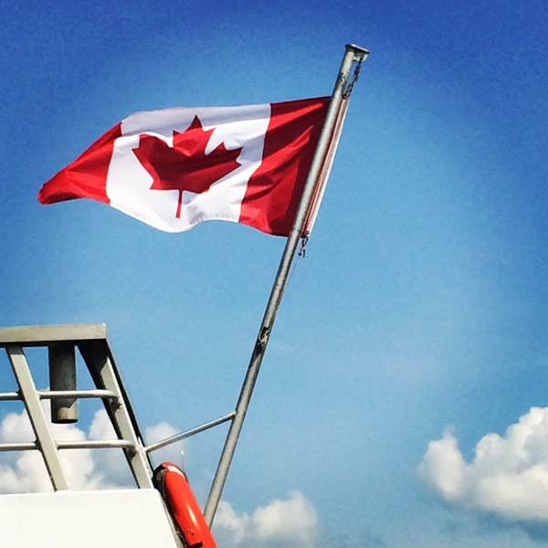 #schummer14 1000 Islands canada flag