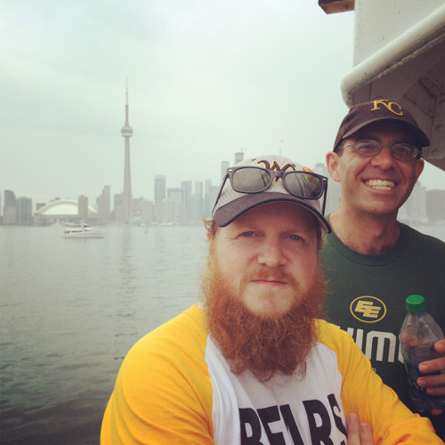 #schummer14 Charlie and Lee on Toronto Islands ferry