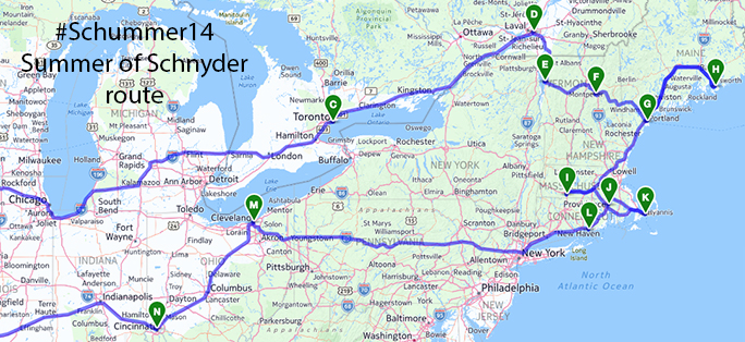 Northeast Road Trip >> Schummer14 Summer Of Schnyder Route Next Door To Normal