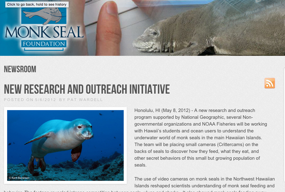 Check out the Monk Seal Foundation website monksealfoundation.org.